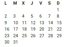 Calendario de Competiciones (CAMBIO 1)