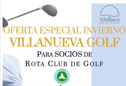 Oferta Villanueva Golf socios RCG